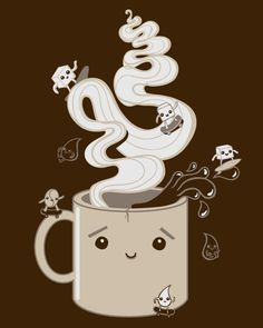 Extreme sports and coffee combine to make a fun, cute design. Add one of our coffee shirts to your wardrobe for those early morning week days. Visit TeeFury today for more coffee tees and original t-shirt designs. Coffee Talk, Coffee Love, Coffee Shop, Coffee Cups, Coffee Corner, Sweet Coffee, Coffee Break, Cafe Rico, Coffee Artwork