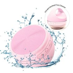 New Facial Face Cleansing Brush Mini 2 Silicone Electric Facial Cleaning Brush Remove Blackhead Pore Cleanser With Warm Cleaning Mini Washing Machine, Pore Cleanser, Blackhead Remover, Brush Cleaner, Facial, Electric, Cleaning, Warm, Facial Treatment