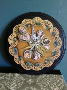 Hand painted Weasley Clock for Harry Potter Halloween Party by Michelle Sheppard, 2012.