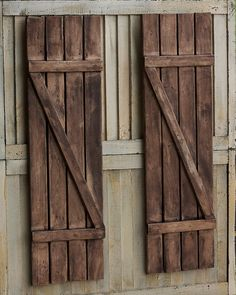 Rustic Shutters Farmhouse Shutters Country by SimplebyBrooke