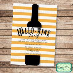 Halloween Wine Party Hallo-Wine Invitation