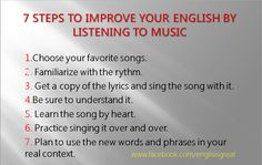 Music and English learning.