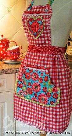 Шьем хочу сшить себе фартук на кухню - шитье