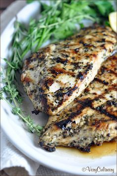 Grilled Chicken Breasts with Herbs and Lemon Recipe on Yummly. @yummly #recipe