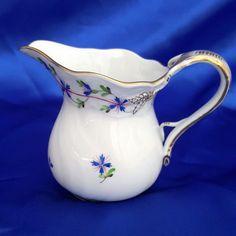 Herend Blue Garland 6oz Creamer / Milk Jug MINT CONDITION 1643 - Hard to find!