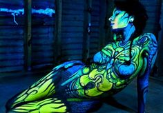 Pics For > Neon Paint Black Light