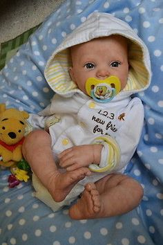 OOAK Reborn baby boy with 3d skin Landon baby Newborn doll