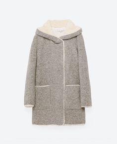 Image 8 of FLEECE-LINED COAT from Zara