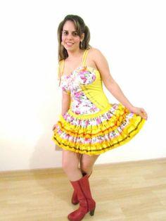 vestidos caipiras Vestido moda para sua Festa Junina