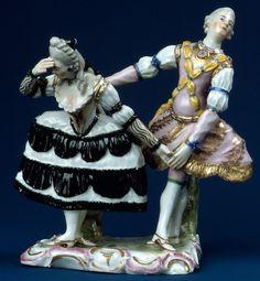 Pas de Deux, ca. 1760-63. Ludwigsburg Porcelain Manufactory. Hard paste porcelain. Metropolitan Museum of Art.