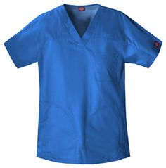 """Unisex Yoke Top in Royal Unisex Fit top features a front and back yoke, side entry pockets, one chest pocket, and contrast colored bar tack details. Center back length: 29 1/2"""".  Fabric: Poly/Cotton Twill $25.99 #scrubs #medicaloutlet #nurses #doctors"""