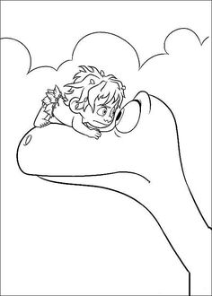 The Good Dinosaur Coloring Pages 12
