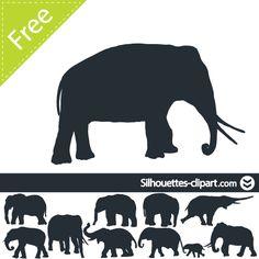 silhouette elephant vector Silhouette Images, Silhouette Portrait, Silhouette Design, Painting Canvas, Diy Painting, Elephant Stencil, Elephant Silhouette, Diy Ideas, Craft Ideas