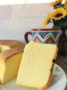 Ingredients: 250g cream cheese 120g pumpkin flesh (steamed and mashed, nett weight) 5 egg yolks 60g castor sugar 60g butter 150g full cream milk 50g cake flour 20g cornflour 1/4 tsp salt 1 tsp Vani…