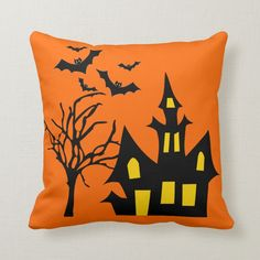 Halloween Night, Spooky Halloween, Happy Halloween, Halloween Decorations, Spooky Scary, Halloween Ideas, Halloween Party, Throw Pillow Cases, Pillow Covers