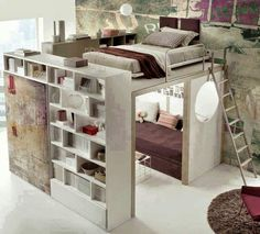 Eleanor saved to leinenhochbett im teenager zimmer maedchen-einrichtung-t. Dream Rooms, Dream Bedroom, Space Saving Ideas For Home, Awesome Bedrooms, Awesome Beds, Coolest Bedrooms, Cool Kids Bedrooms, Beautiful Bedrooms, My New Room