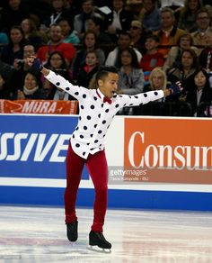 Florent Amodio of France skates in the mens short program on October 23, 2015 in Milwaukee, Wisconsin.