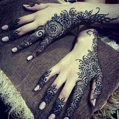 Arabic Mehandi Designs for Brides
