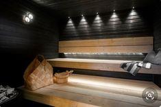 Traditional Finnish sauna with modern twist. Labor Junction / Home Improvement… Sauna Steam Room, Portable Steam Sauna, Sauna Room, Sauna House, Diy Sauna, Sauna Lights, Modern Saunas, Sauna Design, Outdoor Sauna