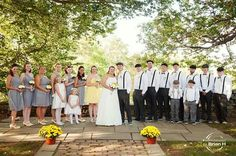 Wedding party at courtyard