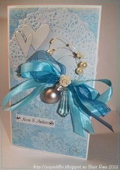 Bryllupskort/wedding card.  scrapliftet Desember 2013.  http://papirdilla.blogspot.no