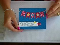 Another video in the FLASH CARD series. This video will show you how to manipulate those 2 little pieces of cardstock into a whimsical banner birthday card! Happy Birthday Banners, Birthday Cards, How To Make Banners, Card Making Tutorials, Card Sketches, Stampin Up Cards, Cardmaking, Paper Crafts, Scrapbooking