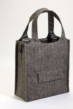 suit tote bag,  By the looks of this handbag its made from tweed mens suit jacket,db