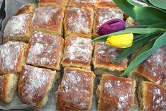 Nattjästa tekakor i långpanna - Victorias provkök Banana Bread, French Toast, Muffins, Cheesecake, Food And Drink, Dinner, Breakfast, Desserts, Recipes
