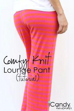 patron de couture gratuit : des pantalons de détente en jersey