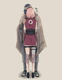 <3 Sakura & Sasuke - by すずこ, twitter