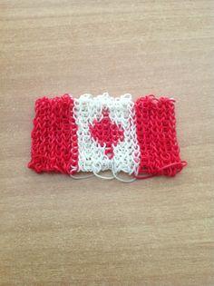 Canada flag made from Rainbow Loom