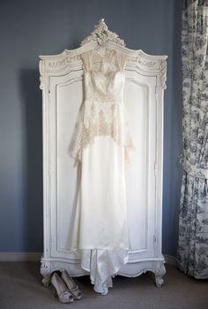 Peplum/Gold Wedding Dress