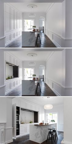 This kitchen is designed to hide all the appliances