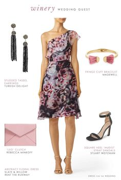 c21b6639315 Wedding guest outfits + ideas  What to wear to a winery or vineyard wedding.