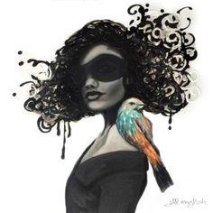 "Saatchi Art Artist Jill English; Painting, ""Masquerade"" #art"