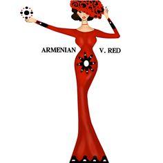 #Armenian V. Red #EveningDress  #Հայկական Ո. Կարմիր #ԵրեկոյանԶգեստ