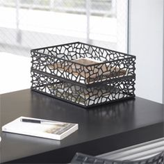 Looks like a bird's nest (Nest Paper Tray-Black ); Bring the Outdoors In