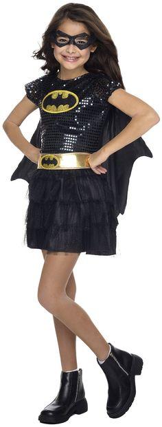 DC Superheroes Batgirl Sequin Dress Child Costume only $20.69! (Reg. $43.99)
