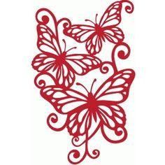 Silhouette Design Store: monarch flourish