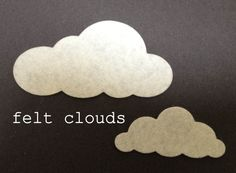 12 felt cloud die cuts choose your colour by bettyoctopus on Etsy Shops, Die Cutting, Felt, Handmade Gifts, Clouds, Crafts, Etsy, Craft Ideas, Color
