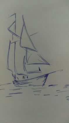 New drawing ideas pencil sketches boat 31 ideas Cool Art Drawings, Art Drawings Sketches, Easy Drawings, Drawing Ideas, Drawing Tips, Tattoo Drawings, Landscape Pencil Drawings, Pencil Art Drawings, Sailboat Drawing