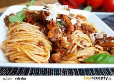 Boloňské špagety recept - TopRecepty.cz