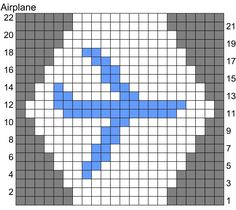 Image result for airplane knitting chart | Knitting charts