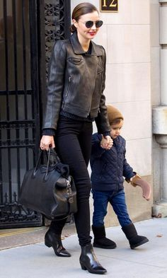 Miranda Kerr with Flynn Bloom in New York