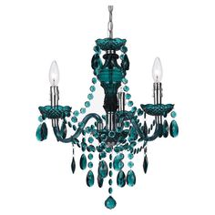 Add a pop of color to your foyer or master suite with this handmade mini chandelier, showcasing prism-cut accents and scalloped bobeches.