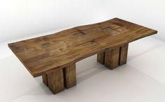 estupendo diseño de mesa rústica