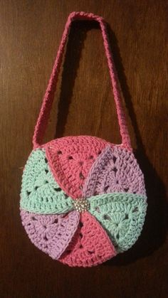 #Crochet bag Granny Triangle #Pinwheel Crochet #Purse Crochet #bag TUTORIAL