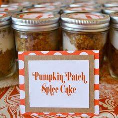Pumpkin Spice Cake in Mason Jars