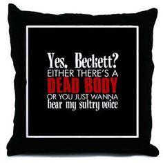 Caskett pillow for the inner geek in me - S