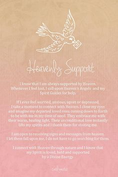 Affirmation - Heavenly Support by CarlyMarie